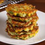 Low Sodium Zucchini & Corn Hash Cakes